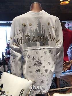 Walt Disney World Christmas White Cinderella Castle Spirit Jersey Size Large